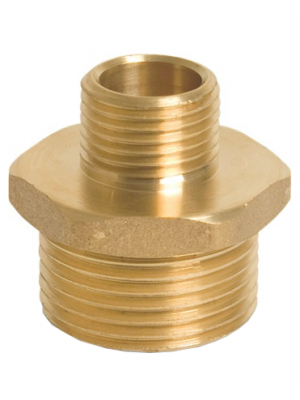 Brass Hexagon Reducing Nipple