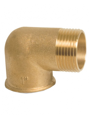 Brass Male-Female Elbow